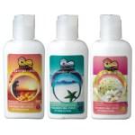 オーガニック素材を使って作った3種の香りのローション。