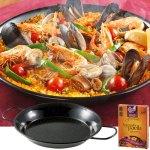 #スペイン 鍋付きパエリア ライスとお好みの具材を用意して煮込むだけ。
