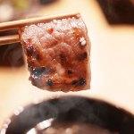A5等級国産黒毛和牛の焼肉用盛り合わせ。赤身とカルビとロースの3部位盛り合わせ。