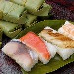 オンライン飲み会におすすめ 奈良柿の葉ずし4種10個(鯖鮭穴子えび)