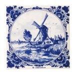オランダを代表するモチーフ風車をデザインした鍋敷き。壁掛けとしても