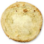 素焼きの生地にクリームソースを塗ったものです。オリジナルのピザ