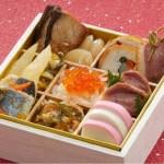 日本料理を少人数向けにお正月の祝い膳らしく端麗に盛り付けました。