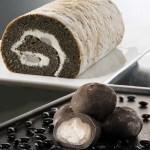 希少価値の高い豆「銀不老豆」を使用したロールケーキと大福のセット