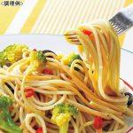 デュラム・セモリナにホウレンソウとトマトを練り込んだ、イタリアンカラーのスパゲティ。