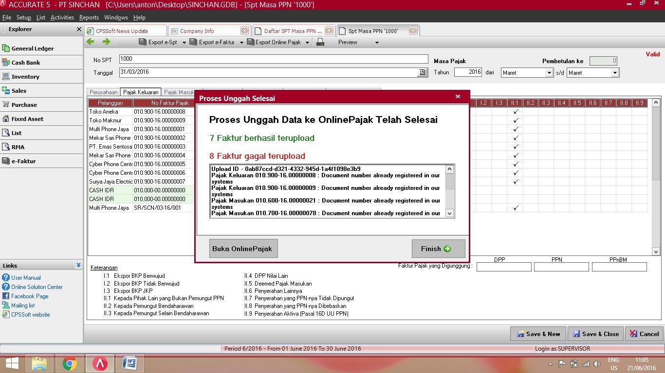 Pajak Online: Fitur Export Online Pajak Di ACCURATE Accounting Software