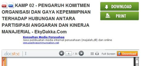 Docstoc Download Jurnal Akuntansi SNA