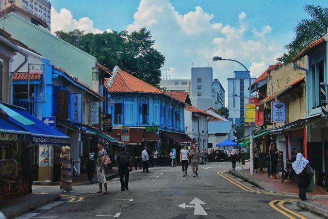 Warna warni bangunan di Kampong Glam