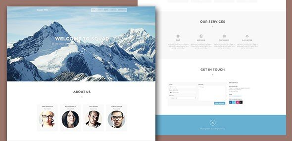SquadFree — Bootstrap Free HTML Template