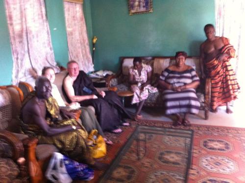 Besøg hos Dronning Nana Afrakoma