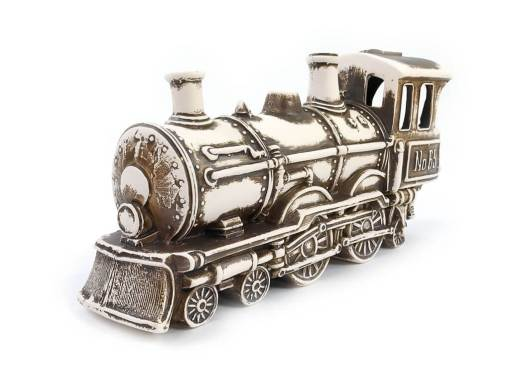 Ozdoba do akwarium Lokomotywa Parowóz Orient Express