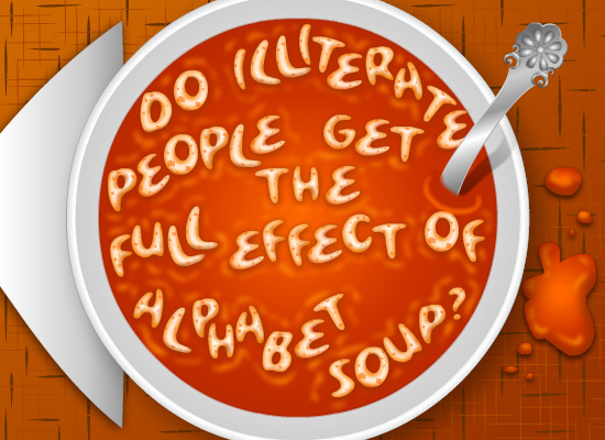 MyFunCards | Alphabet Soup - Send Free Humor eCards, Silly