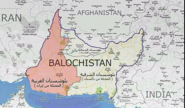خارطة بلوشستان