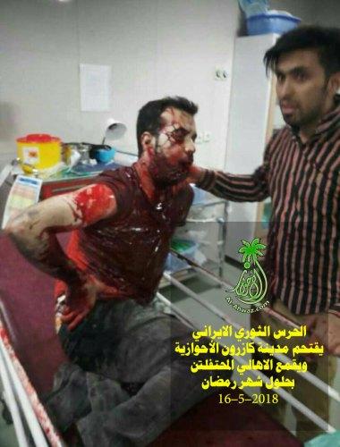 الحرس الثوري الايراني يقتحم مدينة كازرون الأحوازية ويقمع الاهالي المحتفلين بحلول شهر رمضان