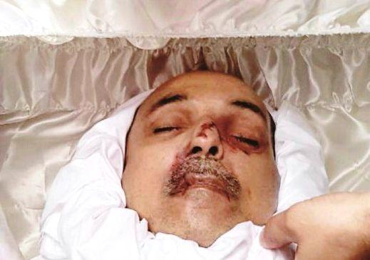 الشهيد القائد أحمد مولى بعد استشهاده - من ارشيف حركة التحرير الوطني الأحوازي