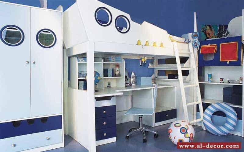 غرفة اطفال ذات ديكورات مستوحاة من البحر