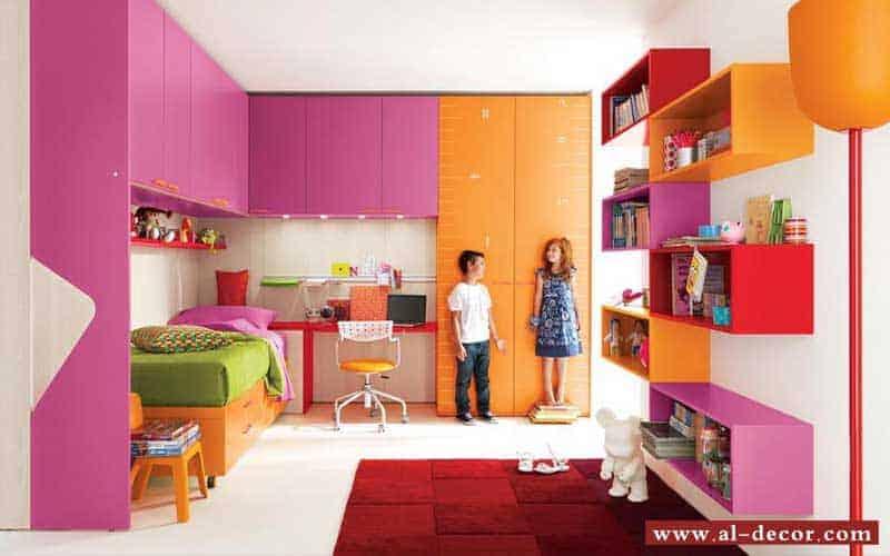 غرفة اطفال ذات مساحة رائعة للألعاب بفضل حسن توزيع الأثاث