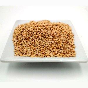 Semillas de sésamo marrón tostado