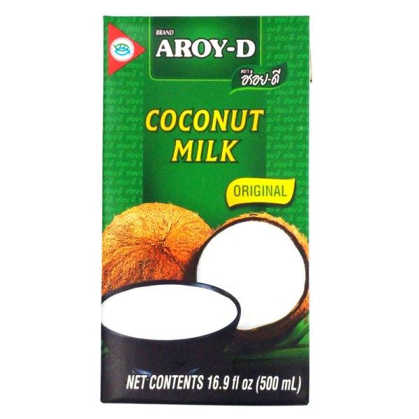 Leche de coco Tetrabrick 500ml. 70% coco. Aroy-D