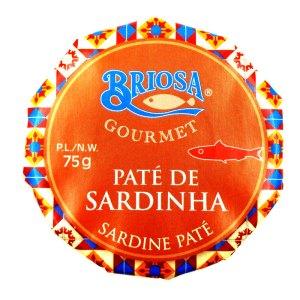 Paté de sardina. Lata 75gr. Briosa.
