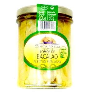 Bacalao. Lomos en aceite de oliva.