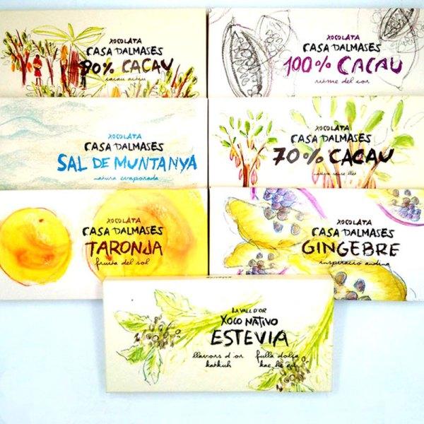 Tableta Chocolate Nativa 70% cacao. Casa Dalmases