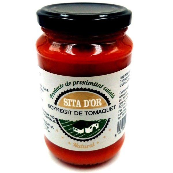 Salsa de tomate con sofrito. Tarro cristal 330gr. Sita d'Or.