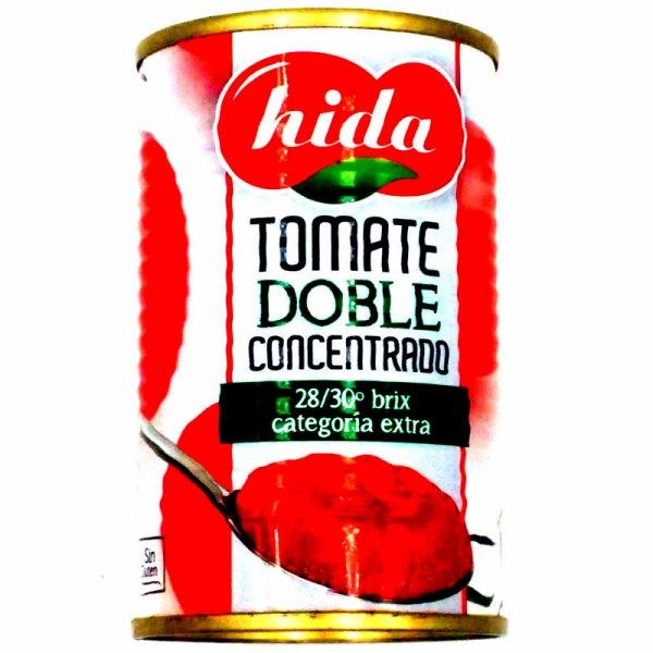 Concentrado de tomate. Lata 170gr. Hida.