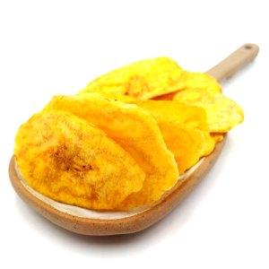 Plátano frito en aceite de oliva con sal