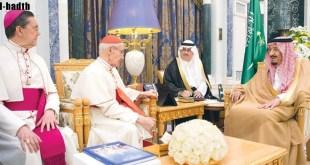 الملك ورئيس المجلس البابوي يؤكدان أهمية دور أتباع الأديان والثقافات في نبذ العنف والتطرف والإرهاب
