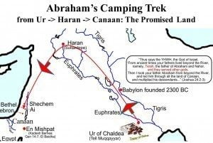 Map of Ibrahim's journey