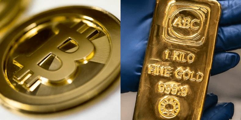 بيتكوين مقابل الذهب