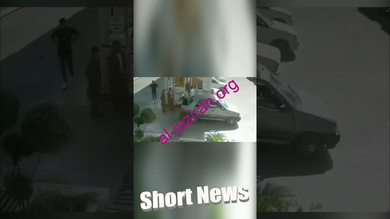 انفجار اسطوانة الغاز في صندوق السيارة