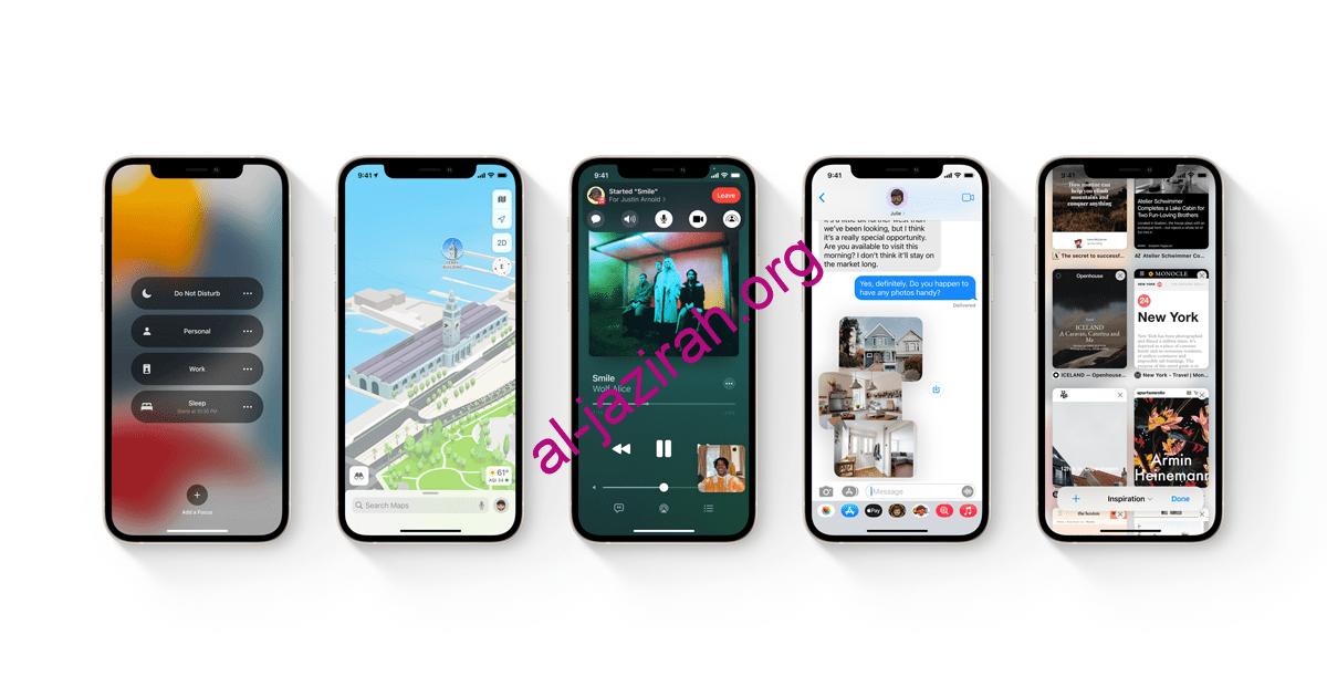 ترقية iPhone لنظام iOS 15