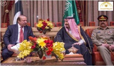 بالصور.. خادم الحرمين يلتقي رئيس الوزراء الباكستاني في الرياض