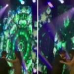 بالفيديو: محمد عبدة يقبِّل يد أنغام