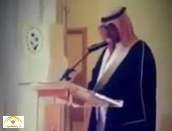 بالفيديو: شاهد موقف طريف جداً لمعلم أثناء إلقاء كلمته في حفل تقاعده .. و الحضور يصفقون له!