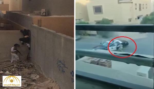 """شاهد مقطع فيديو جديد وثقته """"مواطنة"""" تصف المشهد لحظة تبادل لإطلاق النار مع الإرهابيين"""