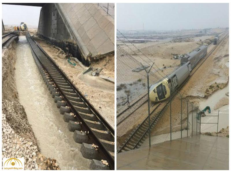 """بالصور:الخطوط الحديدية تصدر """"بيانا"""" وتوضح الأسباب وراء انقلاب قطار""""الرياض-الدمام"""""""
