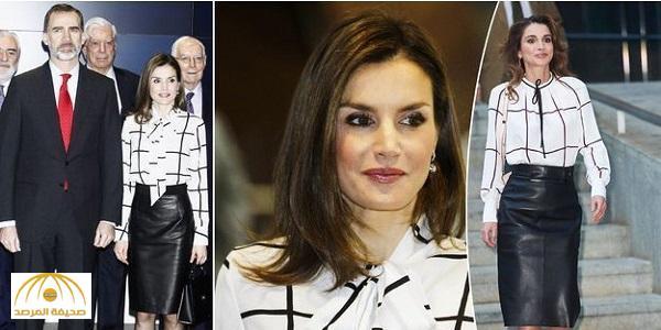 شاهد.. ملكة إسبانيا تقلد الملكة الأردنية رانيا في مظهرها