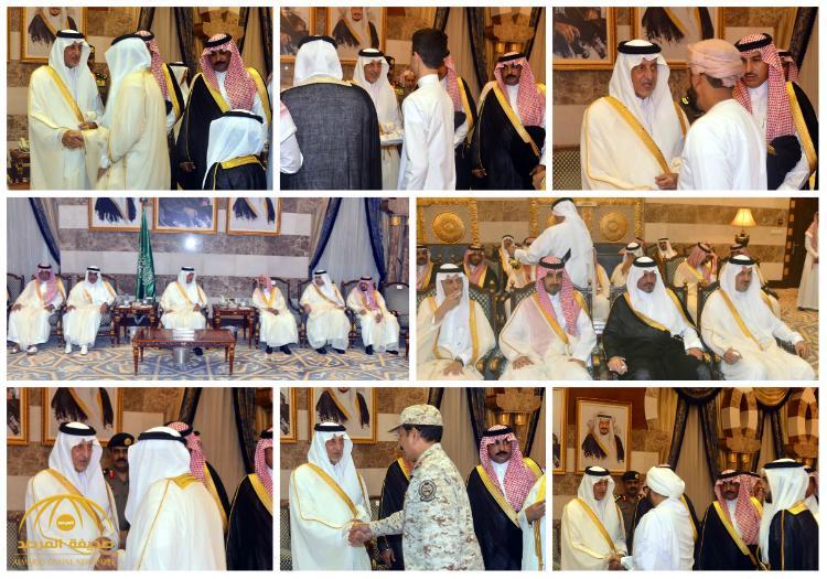 بالصور : أمير منطقة مكة المكرمة يستقبل جموع المهنئين بعيد الفطر المبارك