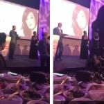 """""""أثناء حفل تكريم"""".. الفنانة السعودية وعد تتعرض لموقف محرج والسبب ديانا حداد- فيديو!"""