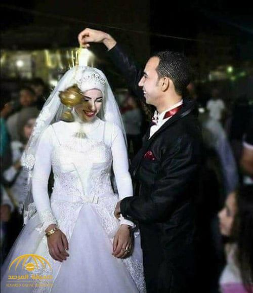 صور وفاة مصرية أثناء حفل زفافها وهي ممسكة بيد عريسها عند