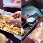 """شاهد: ردة فعل مواطن أشترى وجبة من مطعم """"البيك"""" لأول مرة!"""