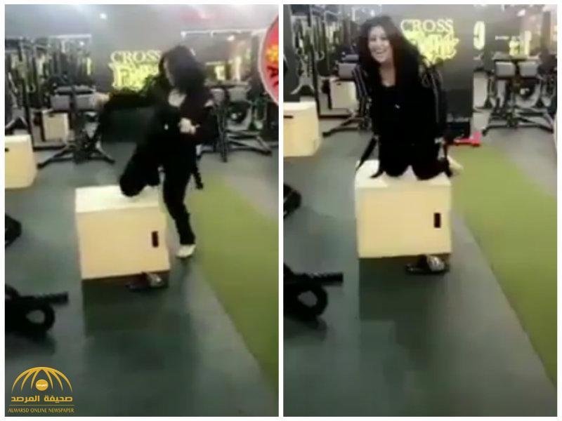 """بالفيديو..شاهد """" دانة الطويرش """" تمارس رياضة  تخفيف الوزن يثير ضحكات مدربتها!"""