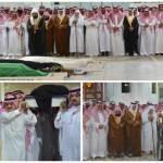بالصور : الأمير خالد الفيصل يؤدي صلاة الميت على الأميرة مضاوي بنت عبدالعزيز
