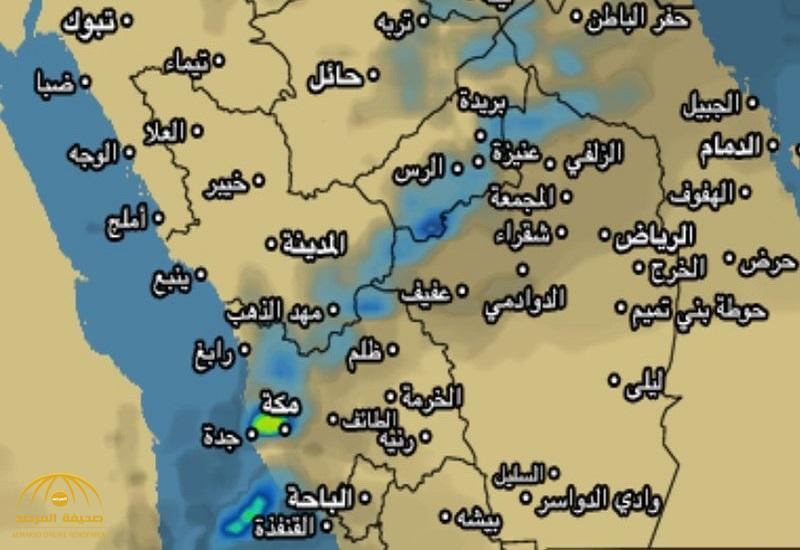 """""""المسند"""" يكشف خريطة الأمطار والبرد خلال الأسبوع ! – صور"""