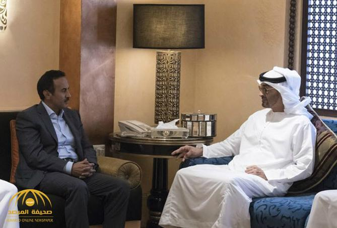 """شاهد أول ظهور لنجل """"علي عبدالله صالح"""" مع الشيخ محمد بن زايد في مقر إقامته بأبوظبي"""
