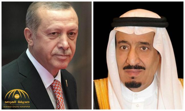 خادم الحرمين يتلقى اتصالاً هاتفيًا من الرئيس التركي