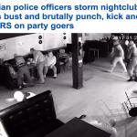 """لحظات مرعبة.. شاهد: الشرطة الروسية تقتحم """"ملهى ليلي"""" وتُقيد المتواجدين وتنهال عليهم بالضرب واللكم!"""
